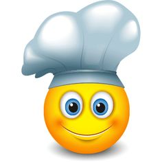 This inspiring smiley chef has just created a feast--all good things like homemade pizza, tacos, and chocolate cake. Emoji Love, Cute Emoji, Emoji Board, Post Board, Funny Emoticons, Emoji Symbols, Emoji Faces, Fire Heart, How To Introduce Yourself