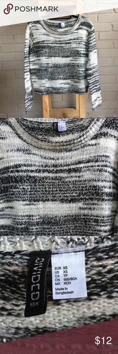 Multicolored sweater Black and white sweater that can easily match with anything. Divided Sweaters