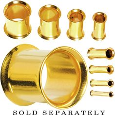 4 Gauge Gold Plated Double Flare Tunnel