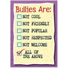 Motivate kids of all ages to succeed with positive messages that promote character development, conflict resolution, diversity, and achievement. Hundreds of value-priced titles allow you to collect an Bullying Posters, Bullying Quotes, Bullying Lessons, Stop Bullying Now, Anti Bullying, Cyber Bullying, Adult Bullies, Bullying Prevention, Brochures