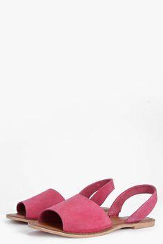 Boutique Mia 2 Part Peeptoe Suede Sandal