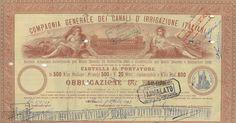 COMPAGNIA GENERALE DEI CANALI D'IRRIGAZIONE ITALIANI - #scripomarket #scriposigns #scripofilia #scripophily #finanza #finance #collezionismo #collectibles #arte #art #scripoart #scripoarte #borsa #stock #azioni #bonds #obbligazioni