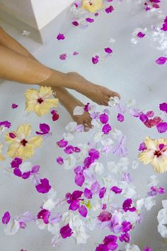 Relaxing in a Spa with flowers!