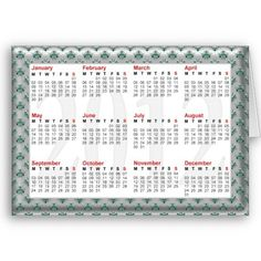Silver and green 2012 table calendar.  For you at www.zazzle.com/superdumb