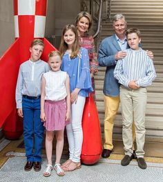 Royal Family Around the World: Belgian Royal Family's vacation photo-shoot in Brussels, on July 19, 2016.