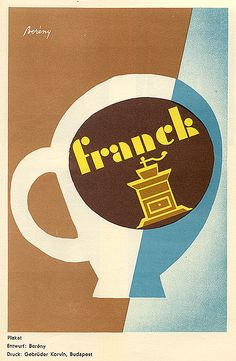 Poster for Franck, 1930. Design by Bereny