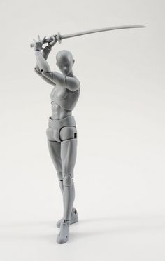 絵師 フィギュア ボディくん ボディちゃん 可動 刀 銃 装備 ポーズに関連した画像-05