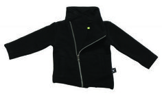 Nununu Black Motorcycle Jacket available for international delivery from online kids store A Little Bit of Cheek