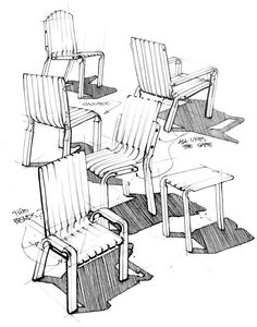 Unit Chair on Behance #id #industrial #design #product #sketch