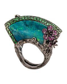 Opal Fan Ring by Wendy Yue #opalsaustralia
