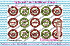 1' Bottle caps (4x6) Christmas mix D551 Christmas bottle cap images #Christmas # xmas #bottlecap #BCI #shrinkydinkimages #bowcenters #hairbows #bowmaking #ironon #printables #printyourself #digitaltransfer #doityourself #transfer #ribbongraphics #ribbon #shirtprint #tshirt #digitalart #diy #digital #graphicdesign please purchase via link  http://craftinheavenboutique.com/index.php?main_page=index&cPath=323_533_42_56
