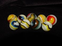 Hybrid Akro Popeye Marbles ~ private collection
