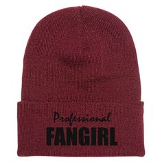 Professional Fangirl Embroidered Knit Cap