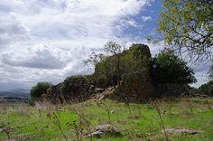 Nuraghe Mannu - Ozieri (SS)  Veduta d'insieme della tholos posta ai vertici delle due pareti del nuraghe arcaico