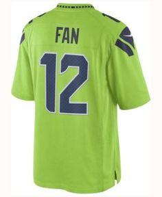 Nike Men's 12th Fan Seattle Seahawks Limited Color Rush Jersey - Green XL