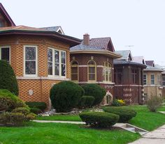Chicago bungalow neighborhoods ~ What great memories--stayed with a cousin and her neighborhood looked like this ♥