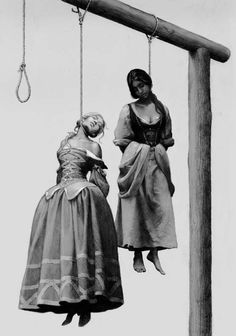 Bessonov Nicolay. Hanging for a witchcraft in Scotland. Martha Lang and…