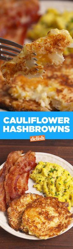 Cooking Cauliflower Hash Browns — Cauliflower Hash Browns Recipe How To Video