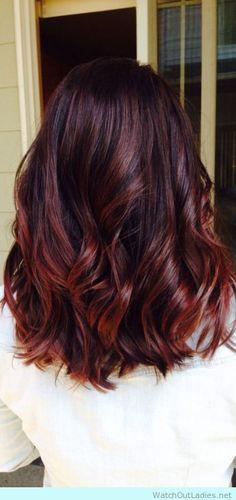 Cherry Brombre hair