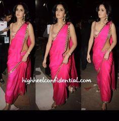 Buy Pink Satin Saree - Katrina Kaif Bollywood Saree Online