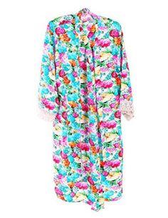 Find Dress Women's Long Cotton Kimono Bride and Bridesmaid Robe for Bride