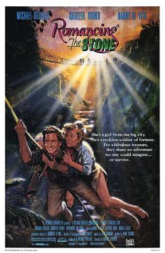 1984 Romancing the Stone. Comedy and action..along the lines of Raiders of the Lost Ark.  Lighthearted.  There was a sequel so the cinema goers of the time liked it.