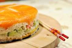 Sushi Cake,for more sushi pics follow me here:@makesushiorg #sushi #party