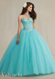 Teal blue and sparkely!