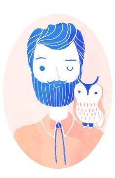 Portrait with My Pet Owl