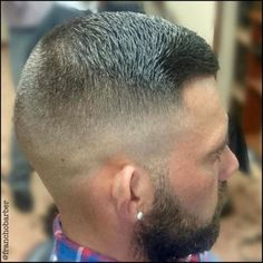 Reposts from This is a haircut that belongs in my series: some posts just need to be reposted. I saw this haircut by and knew at once that it's a keeper. It is short and very smooth. The tranisiton from the skinfade over. Short Buzz Cut, Short Hair Cuts, Short Hair Styles, Mens Haircut Shaved Sides, Fade Haircut, Shaved Head With Beard, Shaved Heads, Haircuts For Men, Men's Haircuts