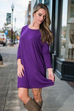 Shift It To Me Dress, Purple