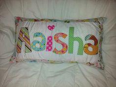 Homemade Personalised childrens cushion x