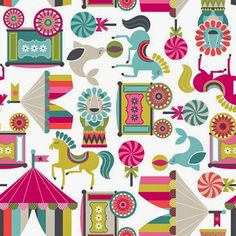Circus carnival print & pattern #inspiration #patterns