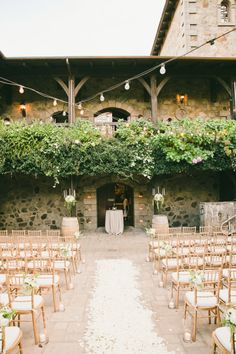 Gorgeous ceremony: http://www.stylemepretty.com/little-black-book-blog/2015/03/31/elegant-saint-helena-vineyard-wedding/ | Photography: Onelove - http://www.onelove-photo.com/