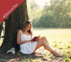 #BenceYaz bir ağacın gölgesi altında kitap okumaktır.