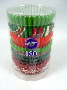 Wilton 150 Holiday Mini Paper Baking Cups Christmas NEW (Multiple) #Wilton