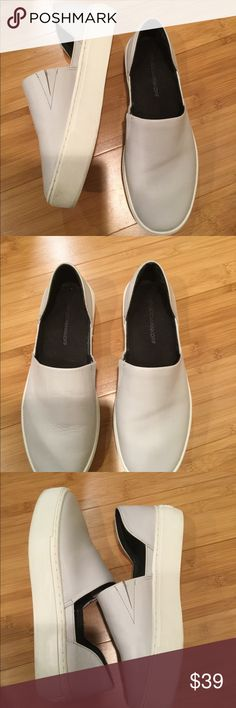 Rebecca Minkoff Light Gray Flat Casual Boat Shoe Rebecca Minkoff Light Gray Flat Casual Boat Shoe Ladies  Size 6.5  Good condition Some creasing on top Rebecca Minkoff Shoes Flats & Loafers