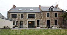 Alkm archi Stone Houses, Large Windows, Style Ancien, Architecture Details, Planer, Facade, House Plans, New Homes, Deco