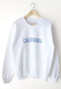 California Oversized Sweater - White
