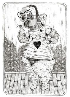Weirdo characters by Bene Rohlmann