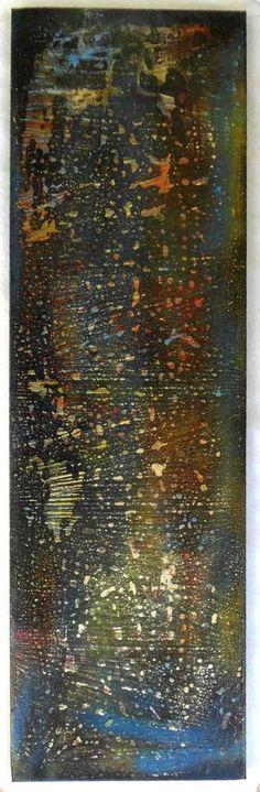 """G.A.Zanussi, """"light entropy"""", arte contemporanea quadro 100 x 30, opera su tela. 2017"""