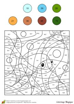 Risultati immagini per coloriage magique addition Math Worksheets, Math Activities, Colouring Pages, Coloring Books, Color By Numbers, Math Projects, Number Games, Basic Math, Math Facts