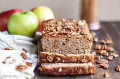 This Paleo Apple Cinnamon Bread is a healthy breakfast or snack that's made with applesauce! This gluten-free & grain-free spiced loaf is so easy and moist.