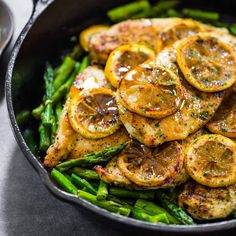 Five-Ingredient Lemon Chicken With Asparagus