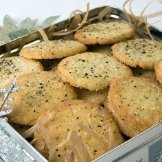 Cornmeal, Black Pepper & Rosemary Butter Cookies... love these cookies.  I use whole wheat flour and olive oil for half the butter...