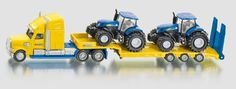 SIKU Farmer 1:87 Scale Die Cast New Hollard Lorry and 2 New Holland Tractors – 1805