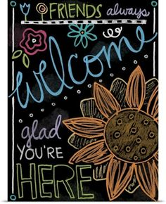 Chalkboard Welcome by Holli Conger