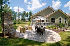 What a perfect backyard #ModelHome