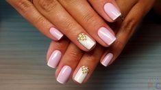 Короткие ногти с красивым маникюром