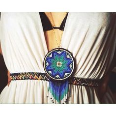 Add one of our huichol mandalas to your outfit for an ethnic/boho look!!!! #boho…
